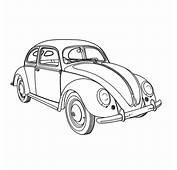 Kleurplaat Volkswagen Kever  Kleurplaatjenl