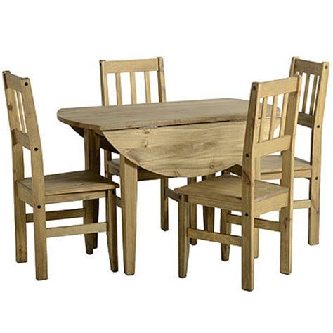 drop leaf kitchen tables and chairs corona circular drop leaf mexican pine dining table