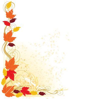 Autumn Border Vector 10896 By Mkoudis On Vectorstock Free Fall Border Templates
