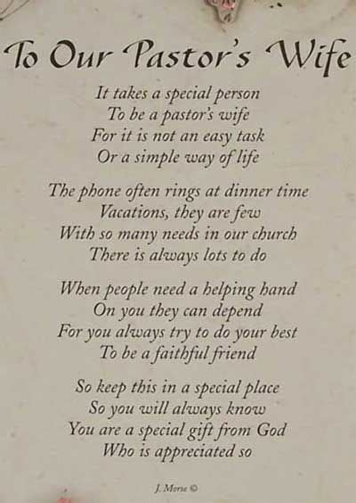 thank you letter to my pastor s pastor s this poem could also work for although