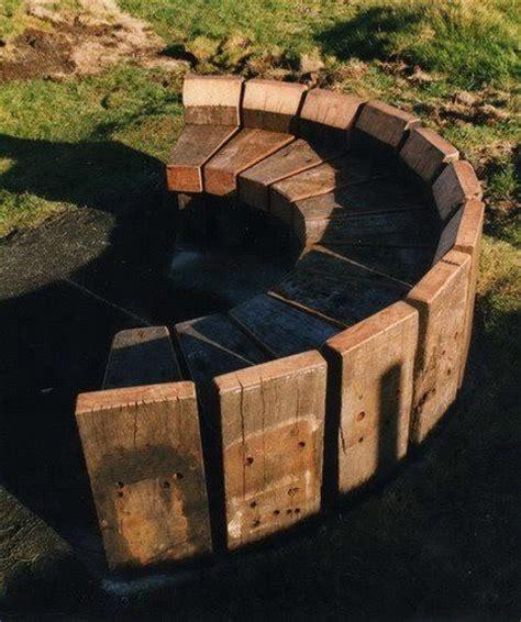 Railway sleeper seat garden yard amp plants ideas pinterest railway sleepers fire pits