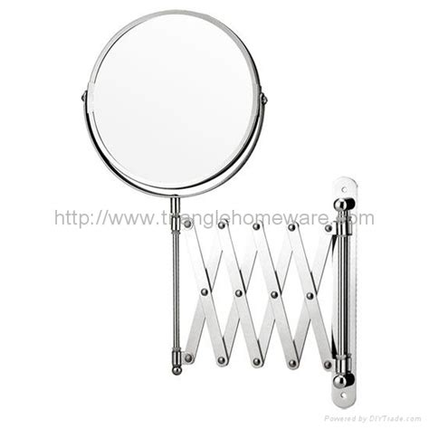 exclusive telescopic cosmetic wall mirror chrome 3 x 15cm telescoping shaving mirror cm a02 oem china