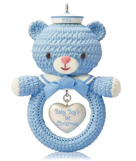 2014 baby boy s first christmas hallmark ornament hooked