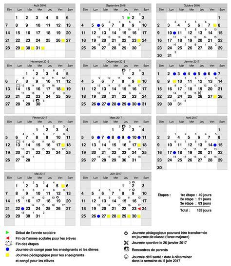 calendrier scolaire quebec institut secondaire keranna calendrier scolaire