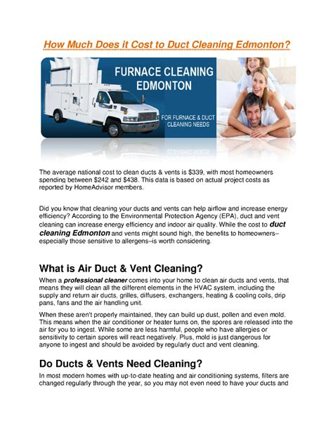 how much does it cost to clean a couch how much does it cost to duct cleaning edmonton authorstream