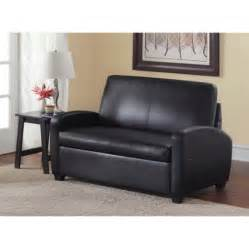 black sofa mainstays sofa sleeper black walmart