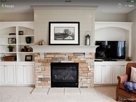 Tv Height Fireplace by Interior Fireplace Hearth Height For Artistic Tv Inset