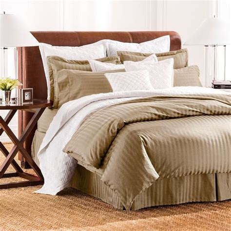 damask stripe comforter set chaps damask stripe 500 thread count comforter set home