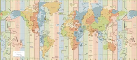 world map with cities and time zones world time zones map