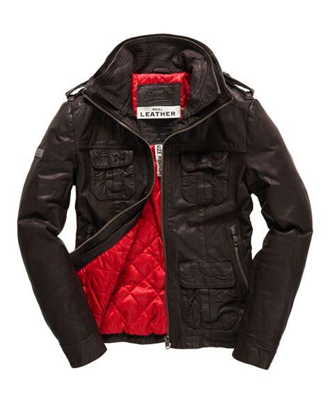 Superdry Leather Brown new mens superdry brad leather jacket brown ebay