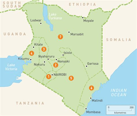 Map Of Kenya Kenya Regions Rough Guides