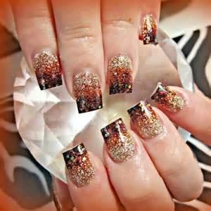fall fade acrylic nails