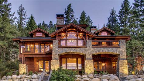 homes in the mountains mountain architects hendricks architecture idaho lakefront mountain home in northern idaho