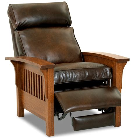 mission style lounge chair rv recliners wall hugger recliners