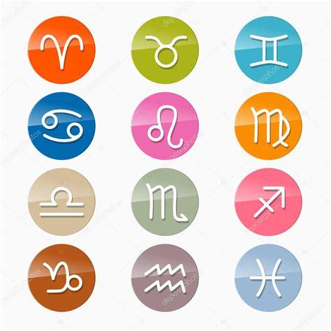 sternzeichen farben vektor sternzeichen horoskop kreis zeichen in retro