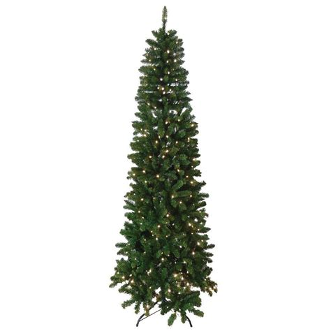 slim artificial trees with lights santa s workshop 7 5 ft indoor pre lit slim artificial