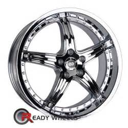 enkei ls 5 chrome 5 spoke 20 inch rims tires