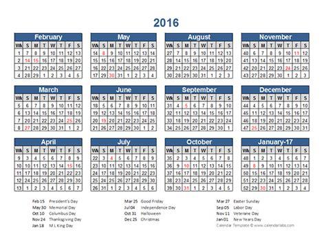 Calendar 2016 Calendar 2016 Retail Accounting Calendar 4 4 5 Free Printable