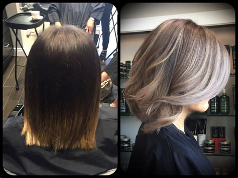 best way to blend gray hair into brown hair transformation time going gray john paul mitchell