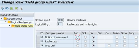 screen layout meaning define screen layout for asset master data s alr 87009044