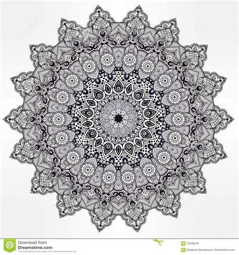 mandala muses a highly detailed coloring book books ornament mandala geometric vector element stock