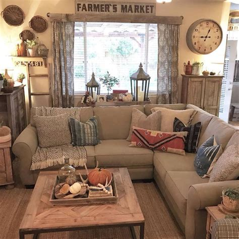 Living Decorations by 39 Simple Rustic Farmhouse Living Room Decor Ideas Coo