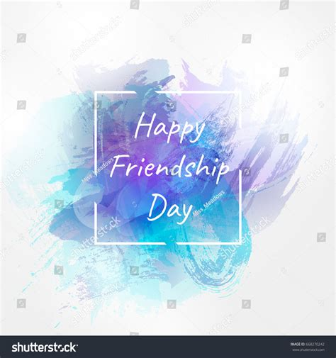 friendship day card template vector illustration international day friendship happy