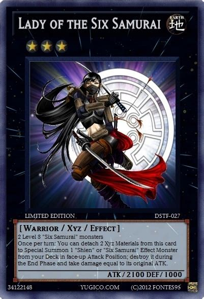 Yugioh Gagaga Samurai Original dstf 027 of the six samurai by fontes95 custom made yugioh card yugioh