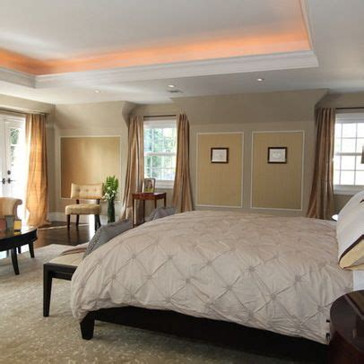 master bedroom style  coffered ceiling bedroom tray