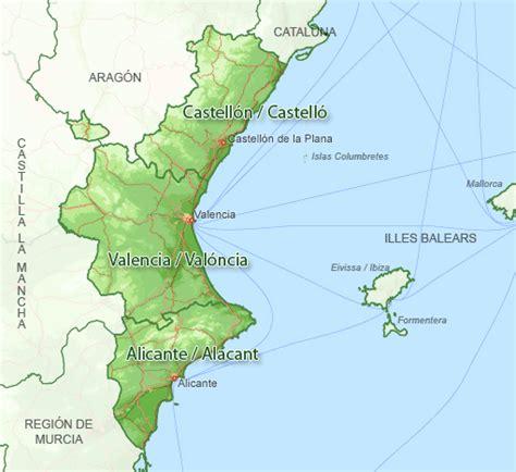 valencia y comunidad valenciana 8497760484 map search for holiday rentals valencian community