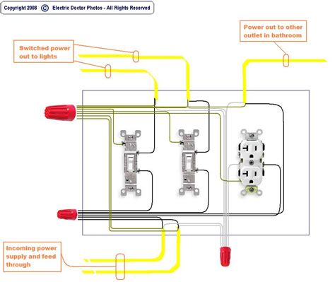 wiring diagram two switches one power source wiring