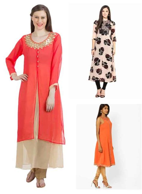 kurtis pattern making georgette kurti designs simple craft ideas