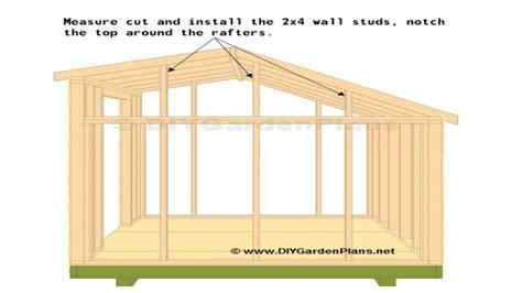 saltbox shed truss plans storage shed plans  saltbox
