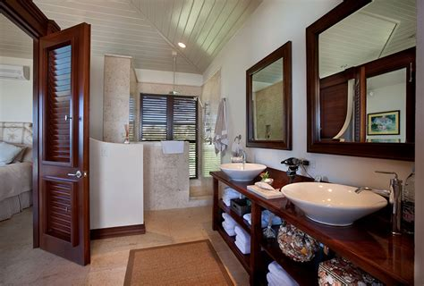 Caribbean Bathroom Decor by Serene Caribbean Rental Villa