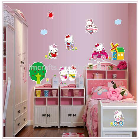 Stiker Dinding Dekoratif by Kucing Hello Kartun Stiker Dinding Kamar Anak Anak