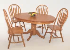 Oak Pedestal Dining Table And Chairs 42 Quot X 42 57 Quot Casual Home Oval Pedestal Table Oak Dining Room Tables In Arizona Oak