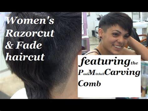 women's razor cut & fade haircut   featuring the paul