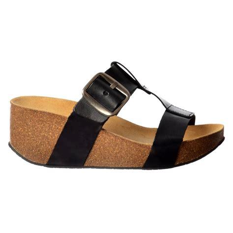 flip flop wedge sandals sweet leather flip flop wedge sandal black