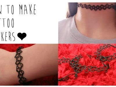 how to make your own tattoo diy choker dreahhnm my crafts and diy projects