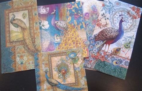 Decoupage Artist - made peacock paper napkins for decoupage
