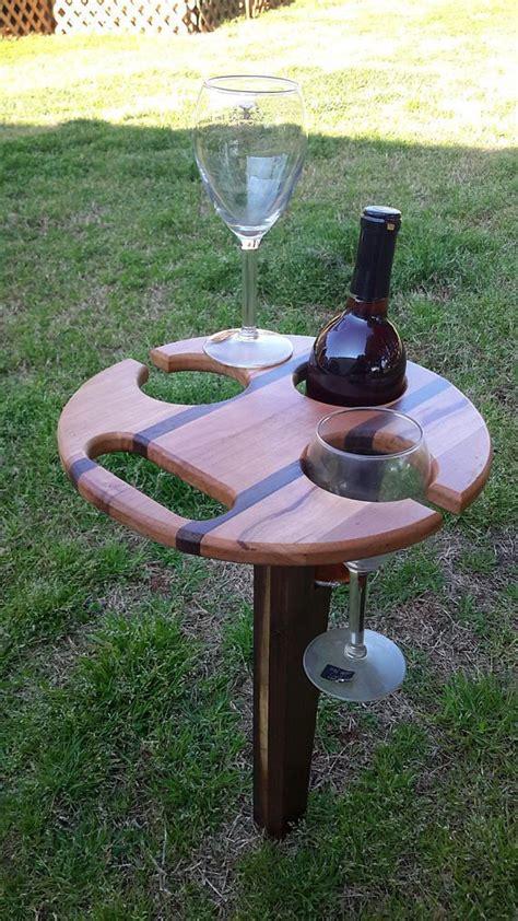 portable folding picnic wine table