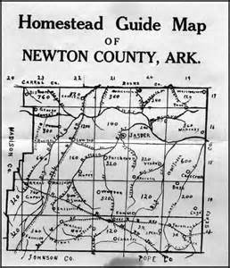 newton county map homestead guide map for newton county arkansas