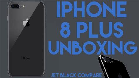 Iphone 8 Plus 256gb Black Space Grey iphone 8 plus unboxing space grey jet black comparison