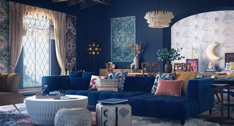 harry potter inspired glam bohemian style living room    zoom background images