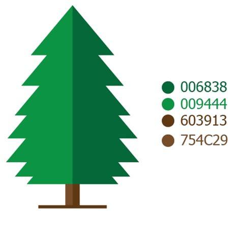 desain grafis flat membuat desain flat vektor pohon cemara di adobe illustrator