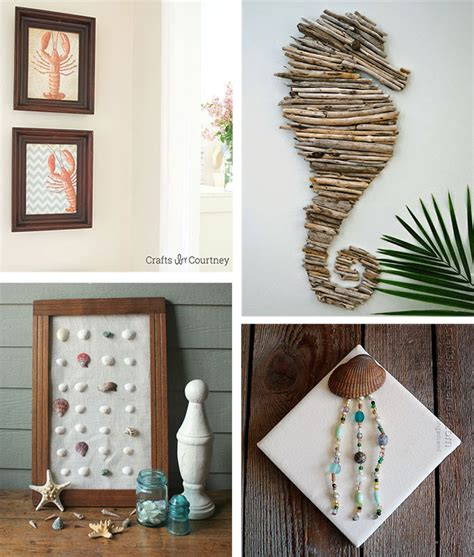 Do It Yourself Home Decorations 29 beach crafts coastal diy wall art