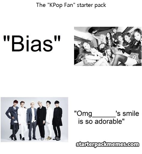 kpop fan memes the best of starter pack memes 187 kpop fan
