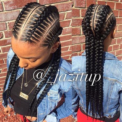 black underbraids style 4 feedinbraids knotlessbraids with skinnybraids in