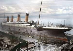 titanic color titanic in colour photographer colours black and white