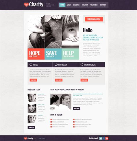 charity site templates charity website template 42626